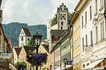 Reichenstraße in Füssen / Foto © Füssen Tourismus und Marketing / Andreas Hub
