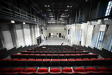 Der neue Vorstellungssaal der Brechtbühne im Gaswerk