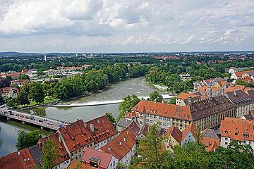 Lechwehr von oben / Bild: Stadt Landsberg am Lech