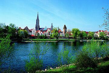 Blick auf die Ulmer Altstadt / Foto: Ulm/Neu-Ulm Touristik GmbH