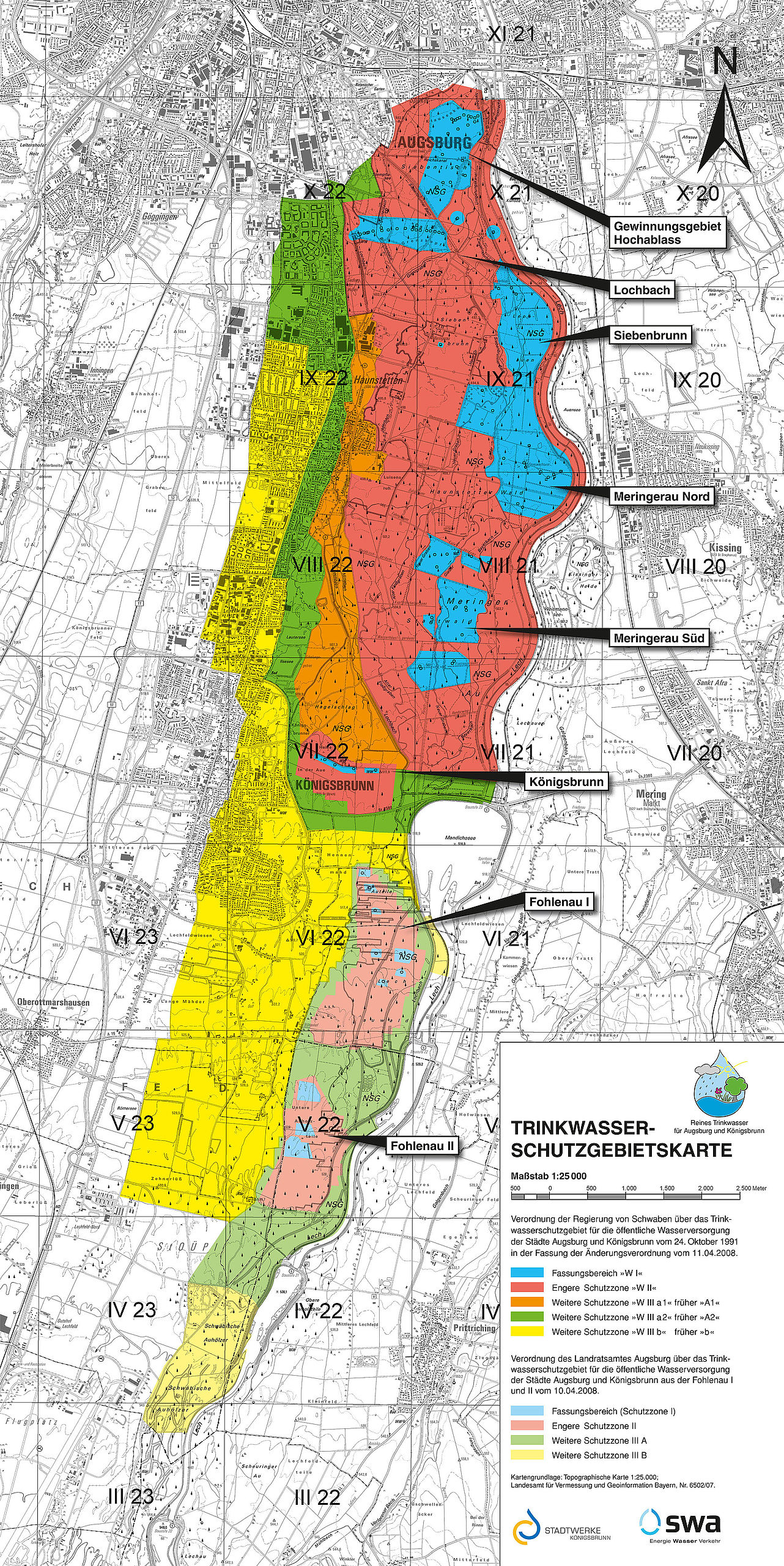 Karte Augsburg.Swa Trinkwasser Stadtwerke Augsburg Swa